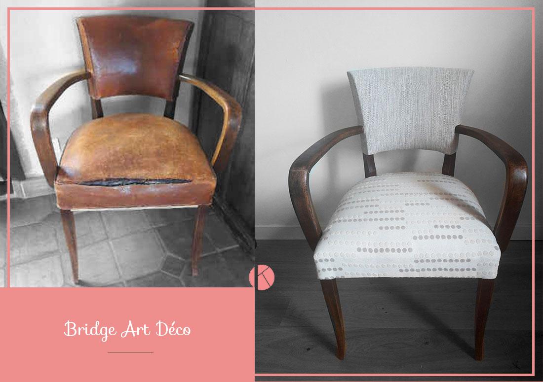 restauration fauteuil vintage bridge villefranche