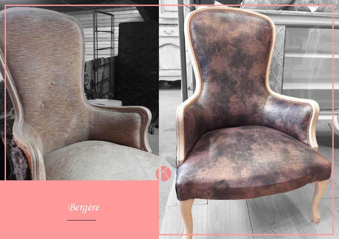 restauration de fauteuil bergère lyon