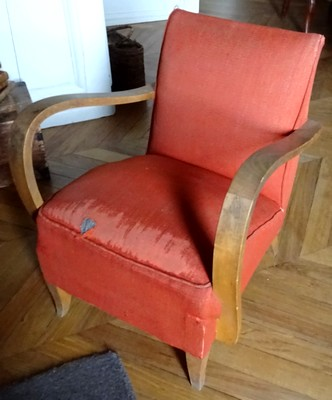 fauteuil studio tissu usé