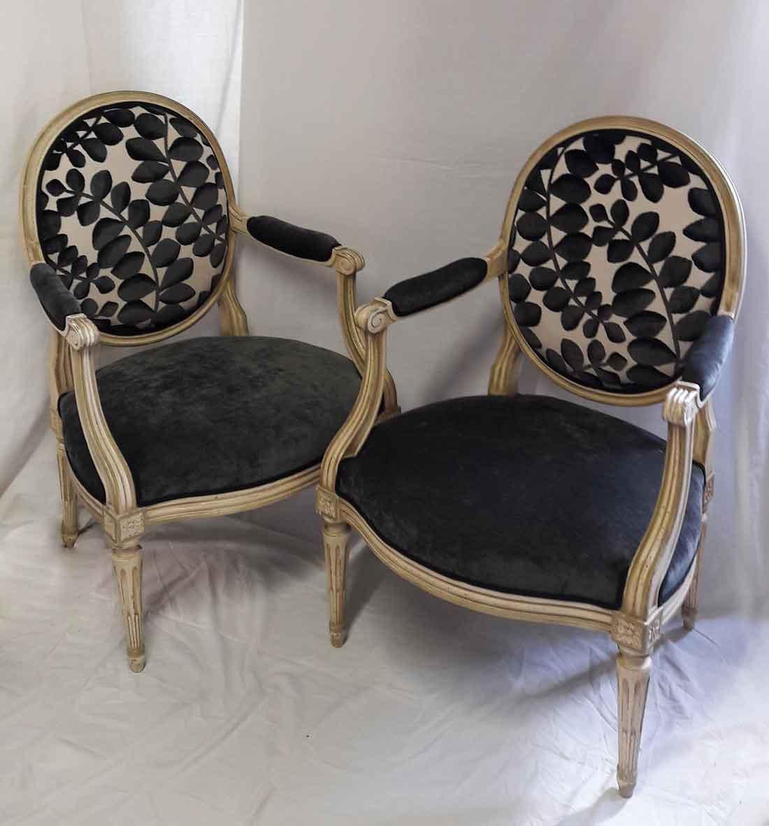 modernisation fauteuils mediallons louis xvi lissieu