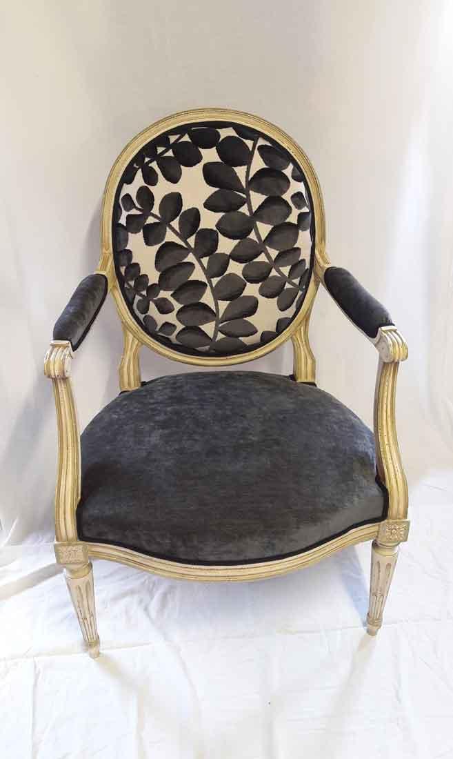 changement tissu fauteuil louis xvi lyon