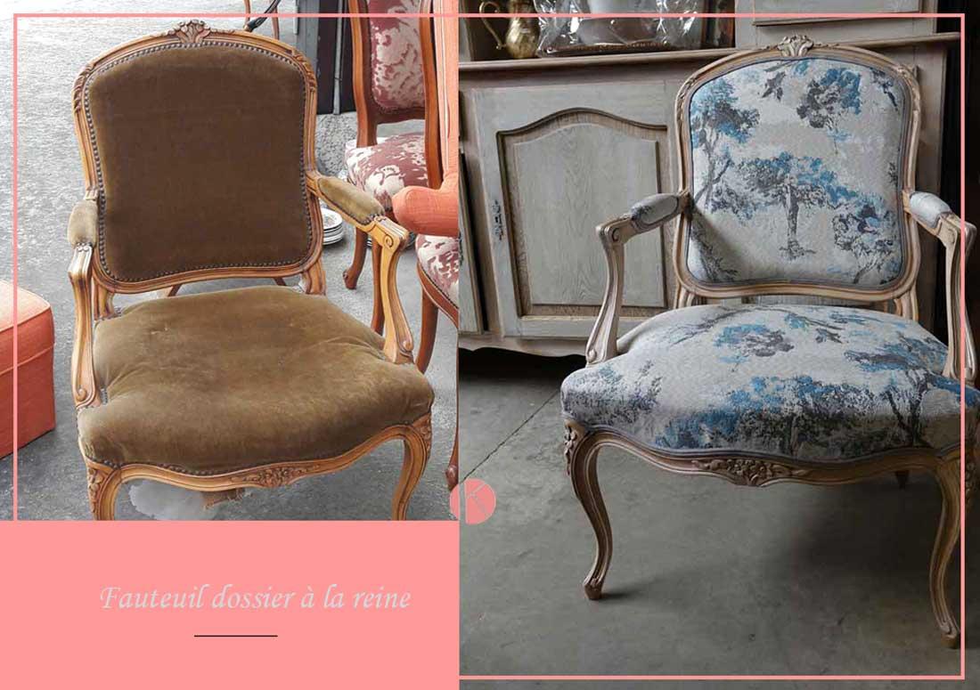 restauration complète fauteuil louis xv