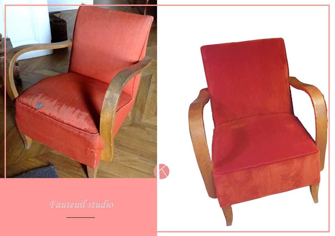 restauration complete fauteuils studio