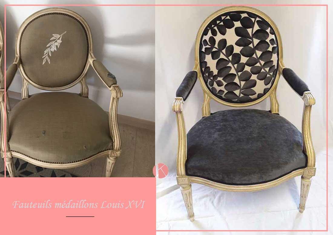 changement tissu fauteuil louis xvi lissieu