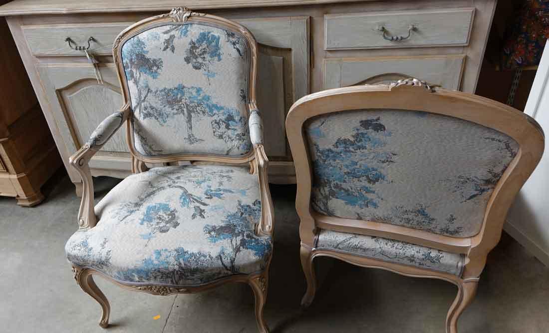 tissu japonisant fauteuil louis xv