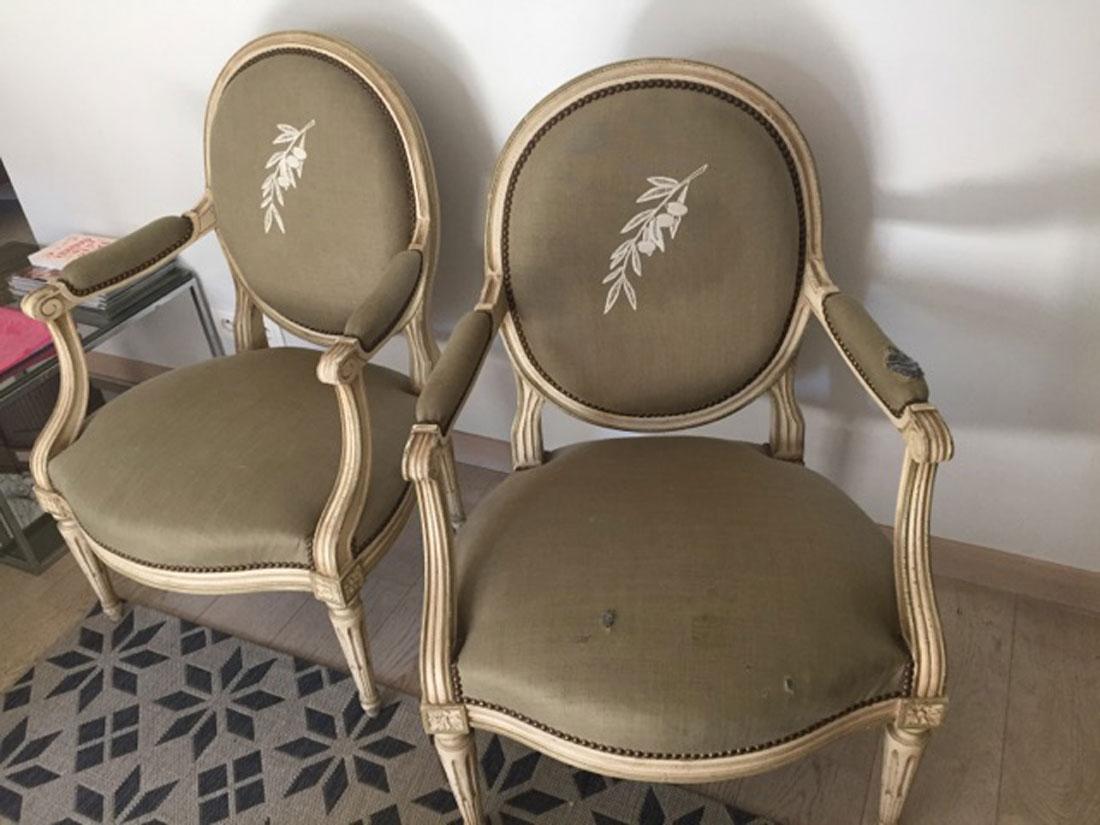 restauration fauteuils medaillons villefranche