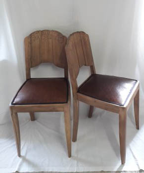 changement cuir chaise art deco villefanche