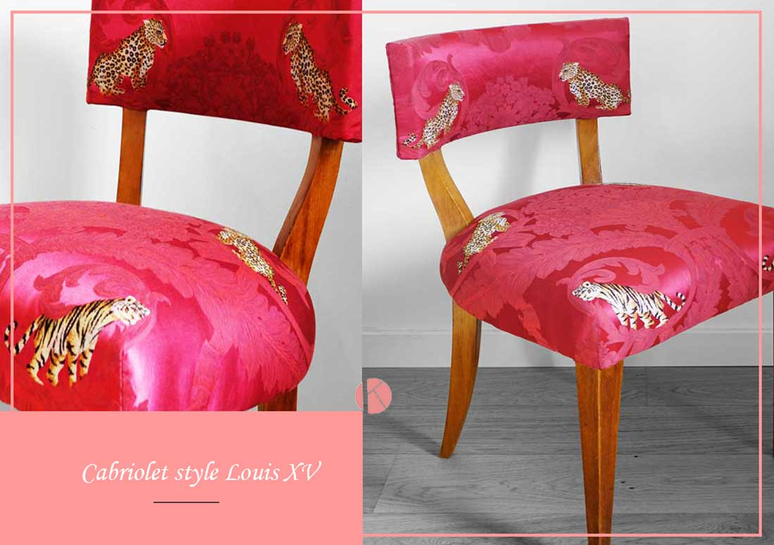 changement tissu chaise tapissier ameublement lyon