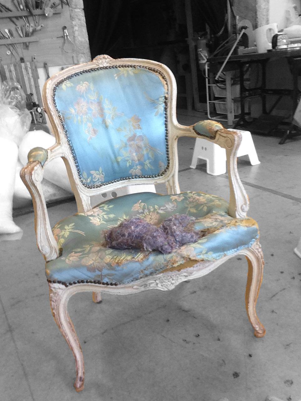 fauteuil louis xv à restaurer