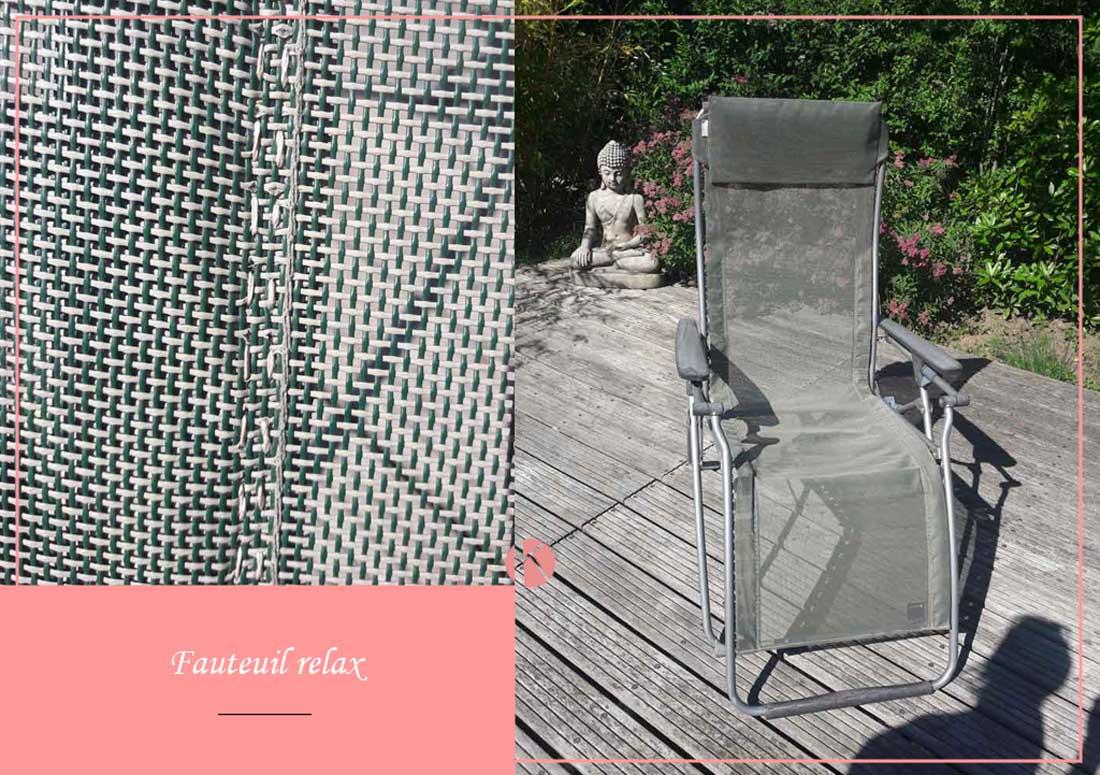 réparation fauteuil relax de jardin