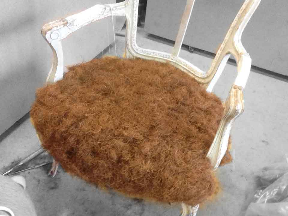 restauration crin fauteuil