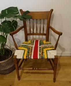 chaise provençale plusieurs tissus